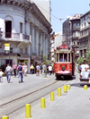Istanbul, Turkey: streetcar / tram in Galatasaray - photo by M.Bergsma