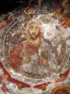 Turkey - Sumela, Black Sea region: the monastery - Jesus Christ, on the ceiling of the Rock Church - photo by A.Kilroy