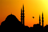 Turkey - Istanbul / Istambul / Estambul: Suleymaniye camii / at Suleyman mosque at sunset - Historic Areas of Istanbul, Unesco World Heritage site (photo by J.Wreford)