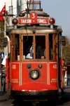 Istanbul, Turkey: tram at Taksim square - Beyoglu - photo by J.Wreford