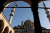 Istanbul, Turkey: dome and mineret of Yeni camii / the New mosque - photo by J.Wreford
