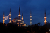 Istanbul, Turkey: domes and minarets of the Blue mosque - Sultanahmet Camii - photo by J.Wreford