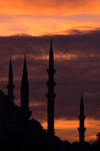 Istanbul, Turkey: minarets at sunset - Historic Areas of Istanbul, Unesco World Heritage site - photo by J.Wreford