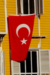 Istanbul, Turkey: Turkish flag outside Tourist police station - Turizm Sube Mudurlugu - photo by J.Wreford