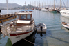 Bodrum - Mugla Province, Aegean region, Turkey: boat in the marina - photo by M.Bergsma