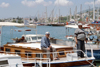 Turkey - Bodrum: men in the marina - photo by M.Bergsma
