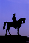 Turkey - Ankara: Kemal Ataturk - silhouette - equestrian statue - horse - photo by J.Wreford