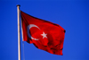 Turkey - Ankara: Turkish flag - photo by J.Wreford