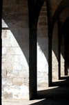 Turkey - Mardin: arches of the madrassa / Medresa - Islamic school - photo by C. le Mire