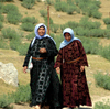 Harran, Sanli Urfa province, Turkey: laughing women - traditional clothes - photo by C. le Mire