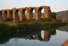 Aspendos / Belkis - Antalya province, Turkey: Roman aqueduct and the K�pr� �ayi river - photo by C.Roux
