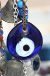 Turkey - Cappadocia - Goreme: good luck charm - evil eye - amulet - Porte-bonheur - bead - Nazar Bonjuk - photo by C.Roux