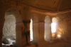Turkey - Cappadocia - G�reme: light and shadow - rock-cut church - Goreme Open Air Museum - photo by C.Roux