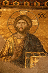 Turkey - Istanbul / Constantinople / IST: Christian icon inside the Aya Sofya - Christ Pantocrator - Deesis mosaic - South Gallery - Ayasofya Museum - photo by J.Wreford