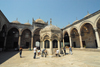 Istanbul, Turkey: New mosque - courtyard and ablutions fountain - yeni cami - Eminonu - photo by J.Wreford
