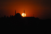 417 Istanbul, Turkey: Sultan Selim mosque and the Golden Horn at sunset - silhouette - photo by M.Torres