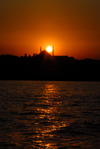 Istanbul, Turkey: Sultan Selim mosque and the Golden Horn at sunset - photo by M.Torres