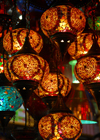 Istanbul, Turkey: glass lamps - Spice Bazaar aka Egyptian Bazaar - Emin�n� District - photo by M.Torres