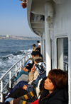 Istanbul, Turkey: time passes slowly for the passengers of Üsküdar ferry - photo by M.Torres