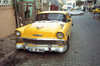 Istanbul, Turkey: yellow classic car - 1950s Chevrolet  - photo by S.Lund
