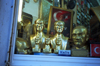 Istanbul, Turkey: patriotic store - take Atatürk home - golden busts - photo by S.Lund