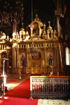 Istanbul, Turkey: iconostasis - interior of the cast iron church of St Stephen of the Bulgars - the Bulgarian Iron Church - cast in Vienna and designed by Armenian architect Hovsep Aznavur - Sveti Stefan Kilisesi - photo by S.Lund