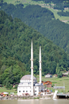 Uzung�l, Trabzon province, Black Sea region, Turkey: mosque and Uzung�l lake - photo by W.Allg�wer