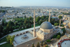 Urfa / Edessa / Sanliurfa, Southeastern Anatolia, Turkey: Great Mosque and its court yard - city panorama - Ulu Cami - photo by W.Allgöwer