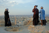Urfa / Edessa / Sanliurfa, Southeastern Anatolia, Turkey: three women enjoy the view from the citadel - photo by W.Allgöwer