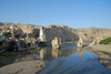 Hasankeyf / Heskif, Batman Province, Southeastern Anatolia, Turkey: the town, the Tigris river and its gorge carved in the limestone - photo by W.Allgöwer