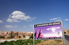 Cappadocia - G�reme, Nevsehir province, Central Anatolia, Turkey: road side billboard for a UFO museum - photo by W.Allg�wer