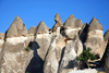 Cappadocia - G�reme, Nevsehir province, Central Anatolia, Turkey: line of fairy chimneys - Valley of the Monks - Pasabagi Valley- photo by W.Allg�wer
