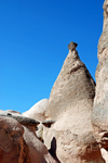 Cappadocia - G�reme, Nevsehir province, Central Anatolia, Turkey: tufa formation Devrent valley - tent rock - photo by W.Allg�wer