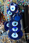 Istanbul, Turkey: evil eye amulet - nazar boncugu - Blue Eye - evil eye stone - Auge der Fatima - photo by M.Torres