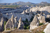 Cappadocia - G�reme, Nevsehir province, Central Anatolia, Turkey: tufa landscape - the valley from above - photo by W.Allg�wer