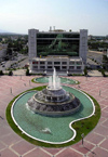 Ashgabat - Turkmenistan - fountain and World Trade Complex from above - photo by G.Karamyanc / Travel-Images.com