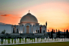 Turkmenistan - Ashgabat: gold domed mausoleum near the Kipchak Mosque - photo by G.Karamyanc