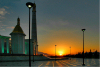 Turkmenistan - Ashghabat / Ashgabat / Ashkhabad / Ahal / ASB: Kipchak Mosque - sunset - Islamic Architecture - photo by G.Karamyanc