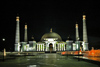 Turkmenistan - Ashgabat: Kipchak Mosque - nocturnal - photo by G.Karamyanc