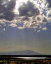 Turkmenistan - Ashgabat: lake in the outskirts - nature - clouds and light - photo by G.Karamyancr