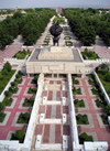 Ashgabat - Turkmenistan - 1948 Earthquake Monument - from above - photo by G.Karamyanc / Travel-Images.com
