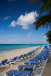 Grand Turk Island, Turks and Caicos: chairs aligned along the southwestern beach - photo by D.Smith