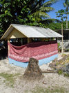 Funafuti atoll, Tuvalu: graves of family members are located next to the residences - photo by G.Frysinger