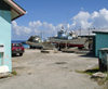 Funafuti atoll, Tuvalu: the harbour - fishing trawlers on shore - photo by G.Frysinger