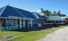 Fongafale island, Funafuti atoll, Tuvalu: terminal building at Funafuti International Airport - IATA: FUN, ICAO: NGFU - photo by G.Frysinger