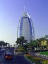 UAE - Jumeirah (Dubai): Burj Al Arab hotel - architect Tom Wright - photo by Llonaid