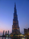 Dubai, UAE: Burj Khalifa, aka Burj Dubai - tallest building in the world - structural engineer Bill Baker, architect Adrian Smith - skyscraper on Sheikh Zayed Road - photo by J.Kaman