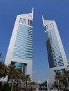 Dubai, UAE: Emirates towers - designed by Hazel W.S. Wong, Norr Group - Sheikh Zayed Road - photo by J.Kaman