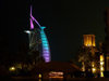 Jumeirah, Dubai, UAE: Burj Al Arab hotel at night - built to resemble the sail of a dhow - photo by J.Kaman