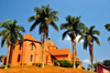 Kampala, Uganda: St. Paul's Anglican Cathedral, red brick architecture and coconut trees on Namirembe hill - photo by M.Torres
